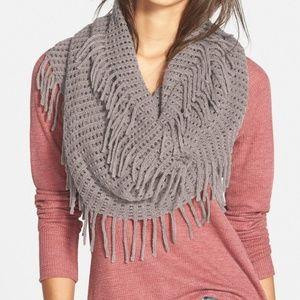 BP Gray fringe infinity scarf